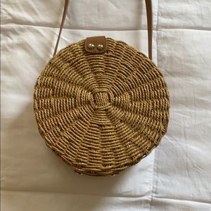 Never worn Crossbody, Shoulder Straw Bag